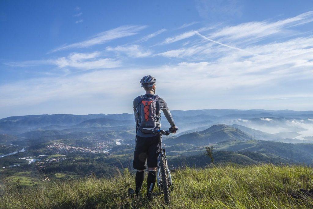 mountain bikes outdoors